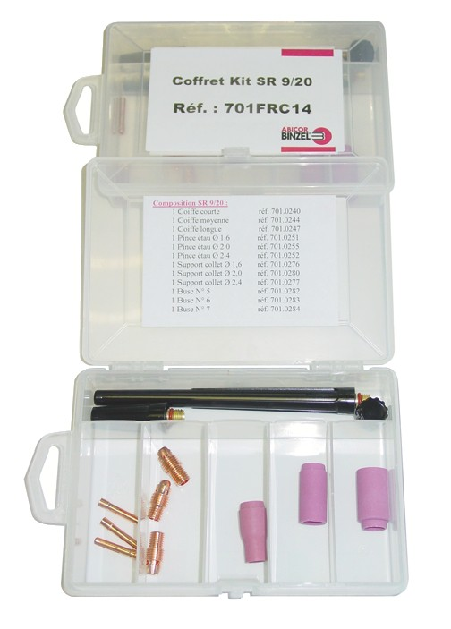 Coffret de maintenance Tig pour torches SRL 9 / 20