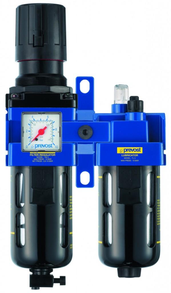 Groupe 2 blocs - filtre mano-régulateur lubrificateur