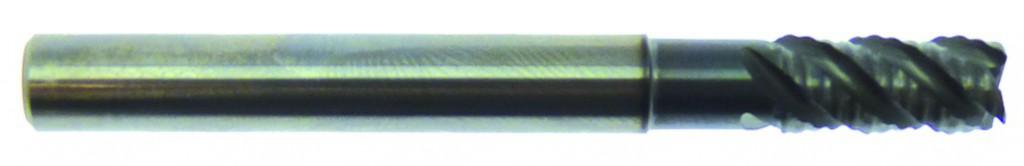 Fraise 4 dents carbure - rhino-acier/inox