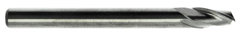 Fraise 2 dents carbure pour aluminium - queue cylindrique