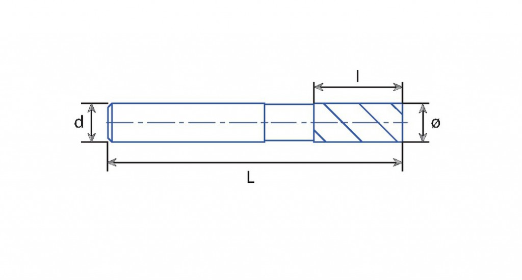 Fraise 3 dents carbure queue cylindrique revêtue