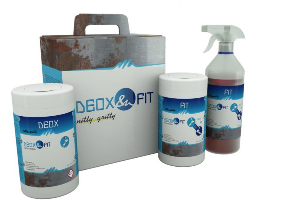 Lingettes Deox et Fit et solution neutralisante Inox Fit