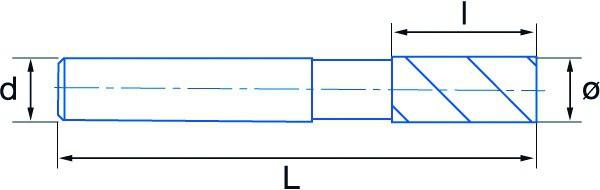 Fraise 3 dents carbure queue cylindrique revêtue 45°