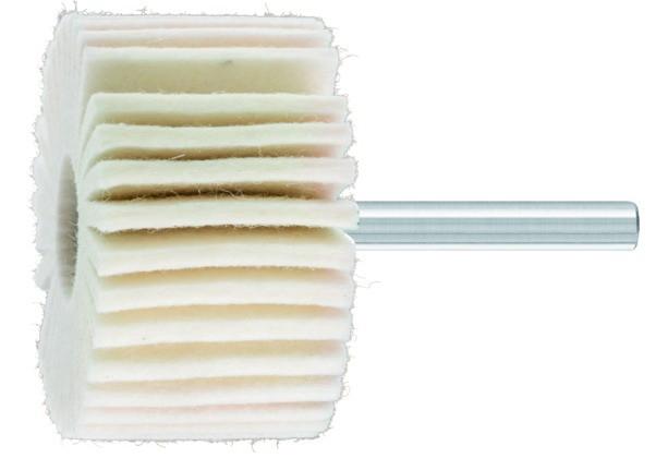 Roue à lamelles en feutre sur tige FLS