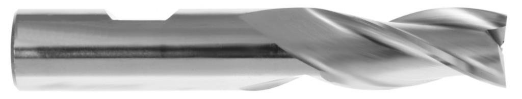 Fraise 2 ou 3 dents - queue cylindrique Weldon inox / acier / alu