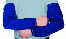 Manchette bleu coton ignifugée