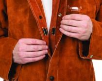 Veste cuir dos tissus