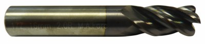 Fraise 4 dents torique (rayonnée) carbure micro-grain - queue cylindrique denture 35/38° Altima (ALTIN)